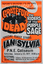 Grateful Dead and The Riders of the Purple Sage concert poster