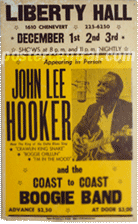 John Lee Hooker and the Coast to Coast Boogie Band at Liberty Hall poster