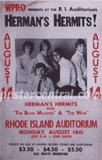 Herman's Hermits, The Who concert poster