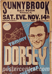 Tommy Dorsey concert poster