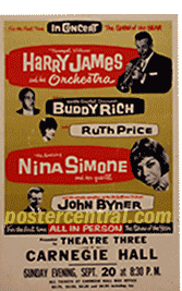 Harry James concert poster