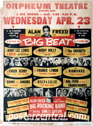 Alan Freed big beat poster