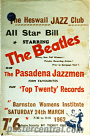 hezwall Jazz club starring the Beatles poster