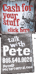 cash for your stuff, talk with Pete signs
