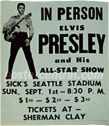 original authentic elvis presley concert posters from the
