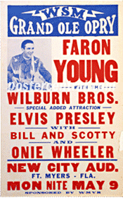 Elvis Presley with Faron Young poster