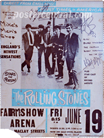 rolling stones farmshow arena poster