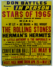 rolling stones stars of 1965 concert poster