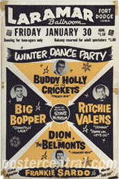 buddy holly, big bopper, richie valens poster