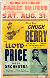 Chuck Berry Lloyd Price poster