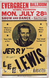 Jerry Lee Lewis 1958 poster