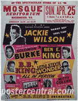 Mosque Auditorium- Jackie wilson BB King concert poster