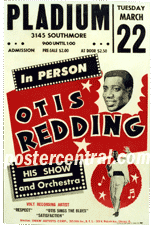 otis Redding at the Pladium concert poster