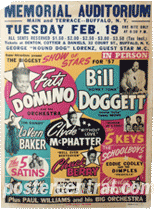 fats Domino, Bill Doggett Show of Stars concert poster