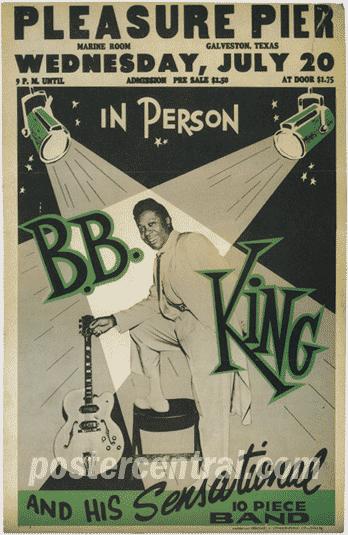 Vintage 1950s B B King Blues Concert Posters