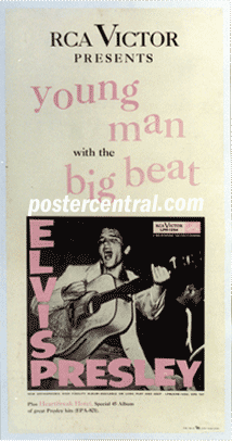 Elvis Presley young man with a big beat promo poster