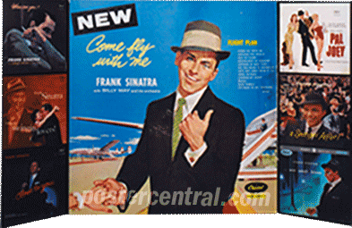 Frank Sinatra Come Fly with Me promo display