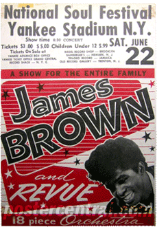 National Soul Festival at Yankee Stadium James Brown handbill