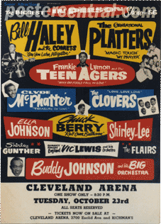 Bill Haley and the Comets, The Platters and more handbill
