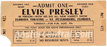 Elvis Presley ticket