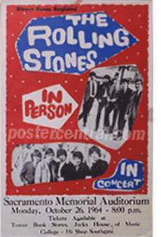 Rolling Stones printed tour blank poster