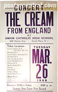 the cream concert poster from england
