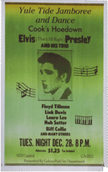 Yule tide jamboree and dance-elvis presley bootleg poster