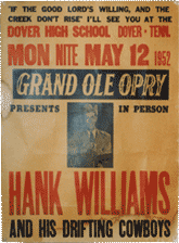 grand ole opry hank willliams bootleg poster