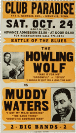 club Paradise- the howling wolf and muddy waters bootleg poster