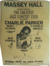 Charlie Parker at Massey Hall bootleg poster