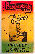 Elvis Presley at Ponchartrain Beach color bootleg poster
