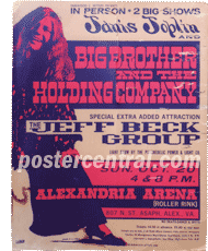 Janis Joplin big brother and the holding company poster