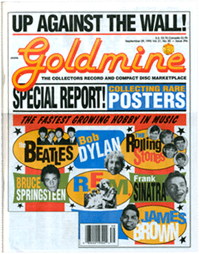 Goldmine Magazine cover