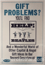 got problems? you'll find Help the Beatles promo poster
