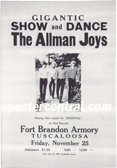 Gigantic Show and Dance the Allman Joys concert poster