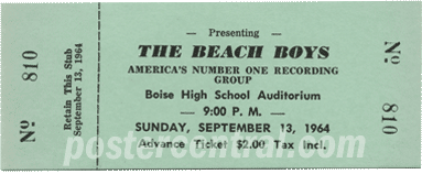 Beach Boys ticket